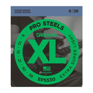 D'Addario EPS530 ProSteels, Extra-Super Light, 08-38 on RigShare