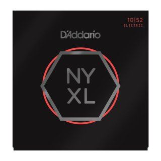 D'Addario NYXL1052 Nickel Wound Electric Guitar Strings, Light Top / Heavy Bottom, 10-52 on RigShare