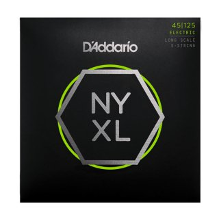 D'Addario NYXL45125, Set Long Scale, Lt Top / Med Btm, 5-String, 45-125 on RigShare
