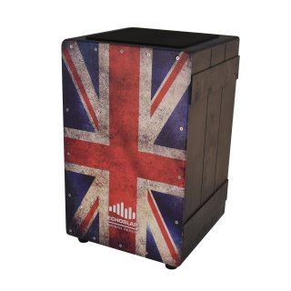 CNZ Audio Vintage Crate Cajon - UK Flag on RigShare