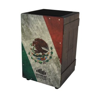 CNZ Audio Vintage Crate Cajon - Mexican Flag on RigShare