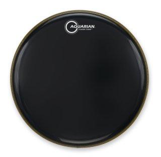 "Aquarian 18"" Classic Clear Gloss Black Bass Drumhead on RigShare"
