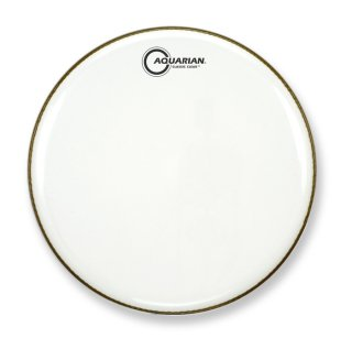 """Aquarian 18"""" Classic Clear Gloss White Bass Drumhead on RigShare"""