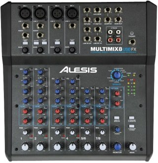 Alesis Multimix 8 Usb Fx 8-Channel Mixer With Effects on RigShare