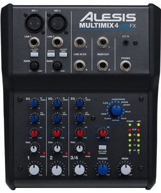 Alesis Multimix 4 Usb Fx Mixer, 4-Channel Mixer With Fx on RigShare