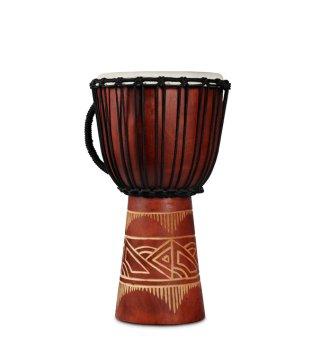 Latin Percussion World Beat Wood Art Medium Djembe Red on RigShare