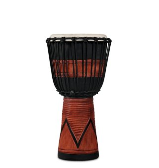 Latin Percussion World Beat Wood Art Medium Djembe Black on RigShare