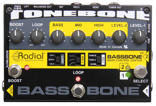 Radial Engineering Bassbone V2 Bass Preamp & DI Box on RigShare