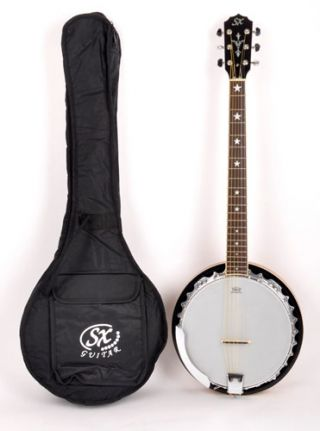 SX Guitar Country 6-String Banjo w/Bag on RigShare