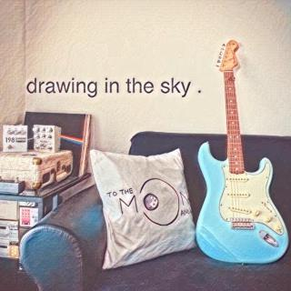 drawing in the sky .